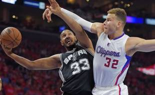 Boris Diaw et les Spurs se sont heurtés aux Clippers de Blake Griffin la saison passée, lors du premier tour des play-offs. AP Photo/Mark J.Terrill