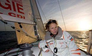 Isabelle Joschke, concurrente de la Solitaire du Figaro 2009.