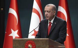 Le président turc Recep Tayyip Erdogan, à Ankara le 26 octobre 2020.