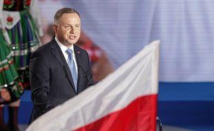 Le président polonais Andrzej Duda à Lowicz en Pologne, le 28 juin 2020.