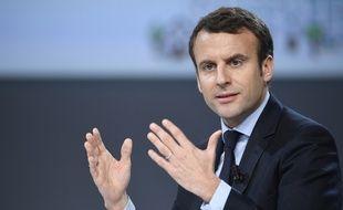 Le candidat d'En marche Emmanuel Macron