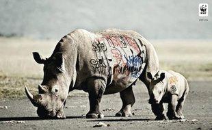 Une campagne du WWF lancée en mai 2010 pour illustrer la dégradation de l'environnement par l'homme.