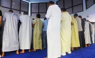 Une prière dans la mosquée En Nour, à Nice.