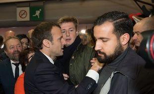 Alexandre Benalla et Emmanuel Macron au Salon de l'Agriculture.