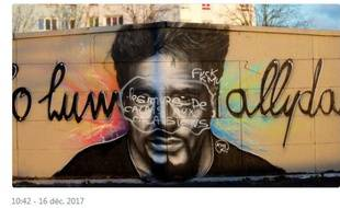Une fresque réalisée à Calais (Pas-de-Calais) la semaine dernière en hommage à Johnny Hallyday a été vandalisée.
