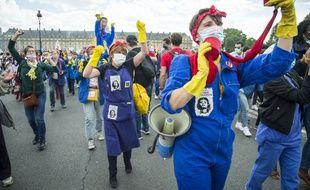 Lors de la manifestation des personnels soignants cette semaine à Paris. (illustration)