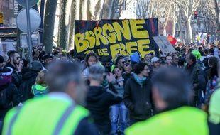 Lors d'une manifestation des «gilets jaunes», à Toulouse. (Illustration)
