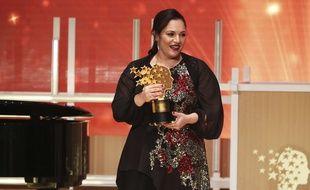 Andria Zafirakou a remporté le prix de « meilleur enseignant du monde » à Dubaï, dimanche 18 mars 2018.