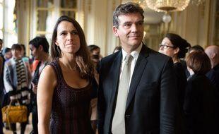 Aurélie Filippetti et Arnaud Montebourg, le 30 octobre 2013, au ministère de la Culture, à Paris.