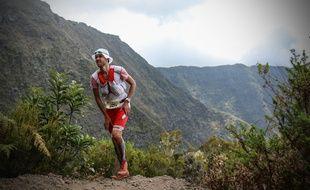 François D'Haene, ici lors d'une de ses précédentes participations à la Diagonale des Fous, a déjà remporté à trois reprises l'épreuve emblématique de l'île de la Réunion.