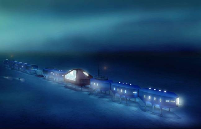 La station Halley VI construite dans l'Antarctique en 2012.