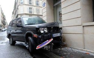 Un accident de voiture à Paris, en avril 2014.