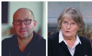 Le journaliste Thierry Demaizière et Jacqueline Sauvage (ici sur une capture d'écran du 20 heures de France 2 du 6 janvier.