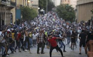 Violentes manifestations à Beyrouth contre le gouvernement, le 9 août 2020.
