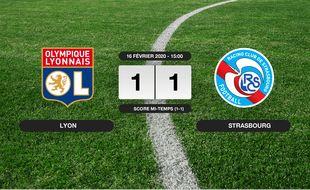 OL - RC Strasbourg: L'OL et le RC Strasbourg font match nul 1-1