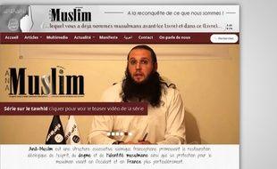 Capture d'écran du site de l'association Ana Muslim.