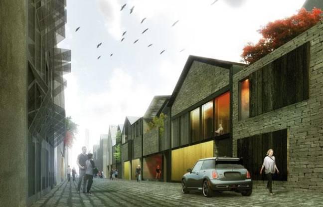 Le projet d'échoppes du XXIème siècle, dan sle futur quartier Brazza, à Bordeaux