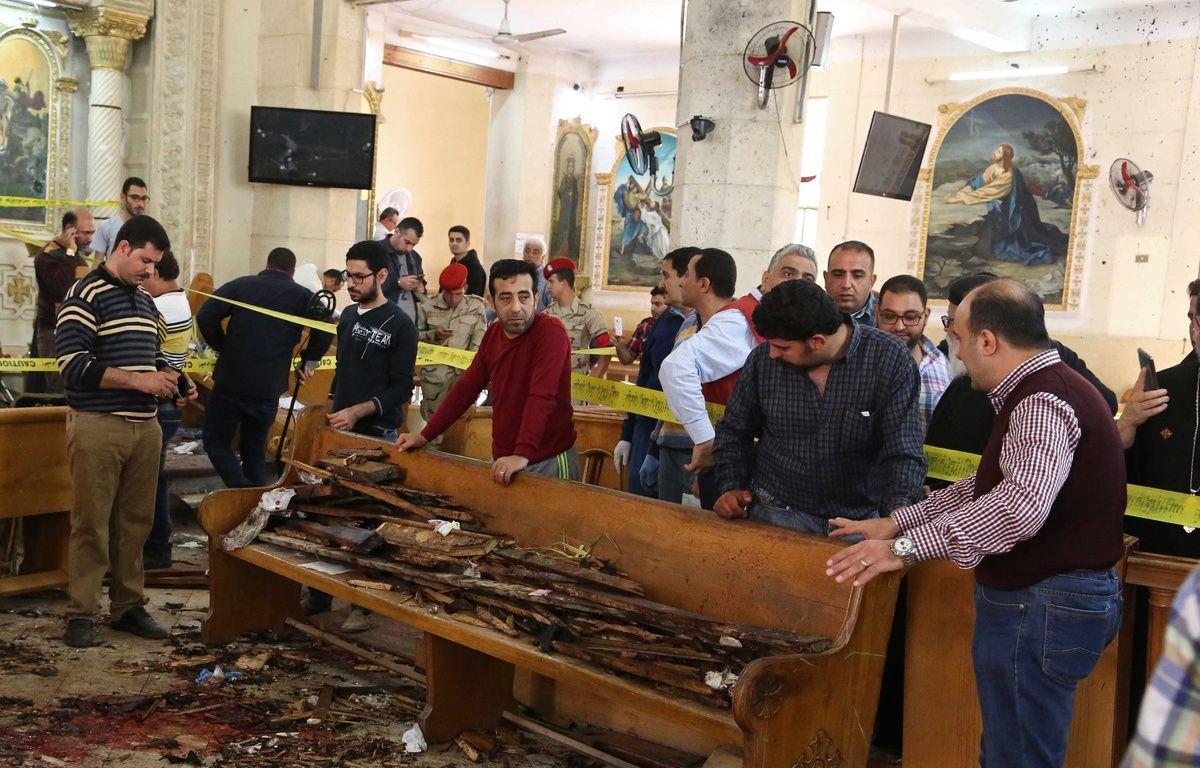 Tanta (Egypte). Un double-attentat a frappé deux églises coptes lors de l'office des Rameaux. – STRINGER / AFP