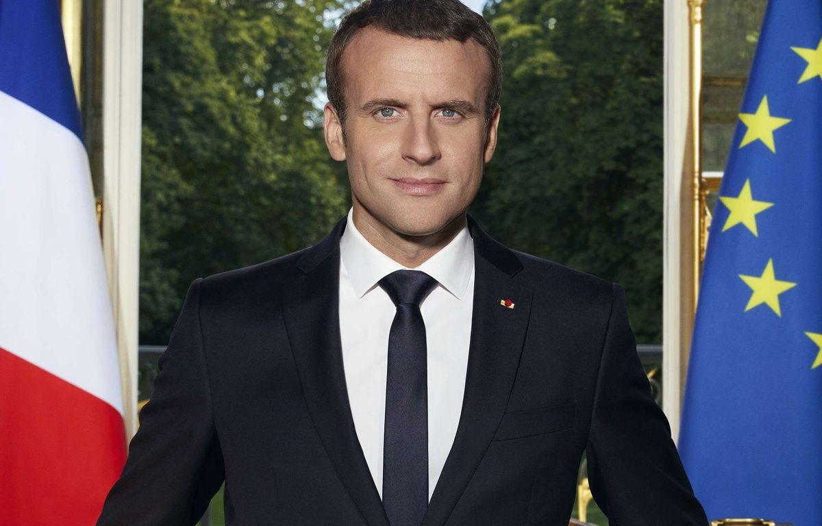 La photo officielle d'Emmanuel Macron. – Soazig de la Moissonniere/SIPA