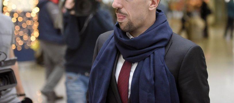 Franck Ribéry à l'aéroport de Munich, le 8 décembre 2015.