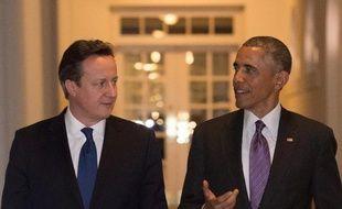 Le Premier ministre britannique David Cameron et le président américain Barack Obama, le 15 janvier 2015 à la Maison Blanche, à Washington