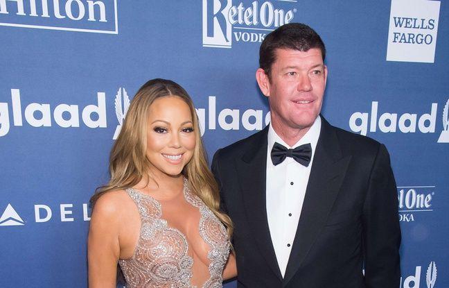 James Packer et Mariah Carey le 15 mai 2016 à New York.