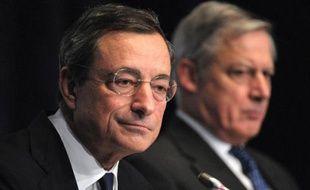 """La Banque centrale européenne (BCE) a maintenu mercredi ses taux à un niveau faible et affirmé qu'elle userait de tout instrument à sa disposition pour aider la zone euro sur le chemin d'une reprise qu'elle juge """"fragile""""."""