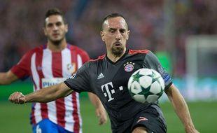 Franck Ribéry lors du match entre l'Atlético et le Bayern Munich le 28 septembre 2016.