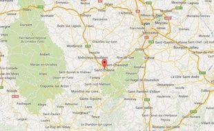 google map saint etienne (loire)