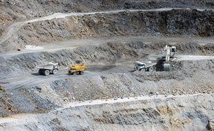 Illustration d'une mine de talc à Luzenac, dans le sud de la France.
