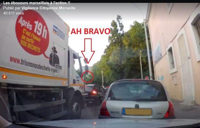 VIDEO. Marseille: Un éboueur surpris en train de jeter des déchets par la fenêtre dans actualitas dimanche 648x415_eboueur-jette-ressemble-cinq-bouteilles-eau-vides