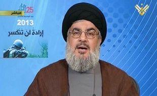 Le chef du Hezbollah libanais, Hassan Nasrallah, le 25 mai 2013.
