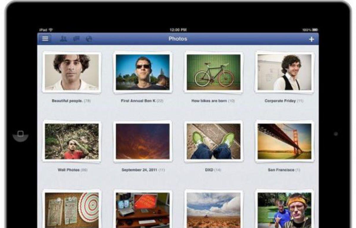 L'app officielle Facebook pour iPad. – DR