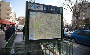 Le 12 mars 2012. Illustration quartier - metro de Belleville. // Photo: V. WARTNER / 20 MINUTES