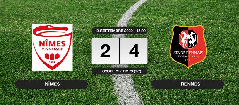 Nîmes - Stade Rennais: Le Stade Rennais vainqueur de Nîmes 4 à 2 au stade des Costières