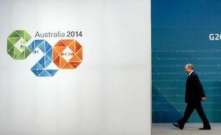 Le président russe Vladimir Poutine au sommet du G20 à Brisbane, en Australie, le 15 novembre 2014