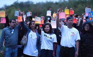 Les proches de Sophie Le Tan rendent hommage à l'étudiante disparue, le 7 septembre 2019.