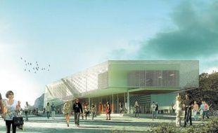 Un amphi de 500 places s'élèvera à côté des bâtiments agrandis de l'école.