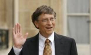Bill Gates le 29 janvier 2008 à Paris