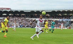 Le Girondin Diego Rolan face à Nantes, le 9 mai 2015.