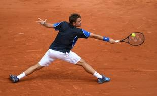 Stanislas Wawrinka, le lundi 28 mai 2018 au premier tour de Roland-Garros.