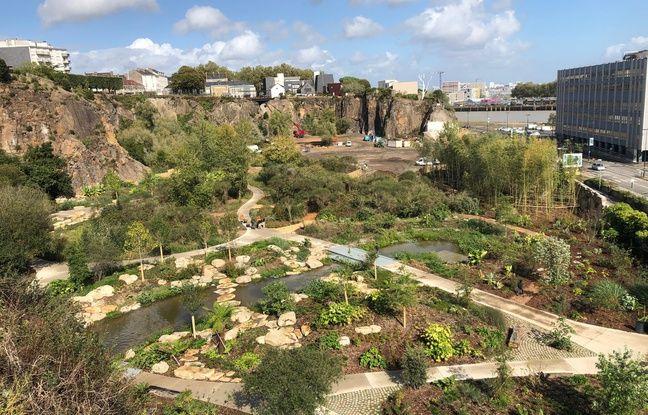 Vue du jardin extraordinaire, à Nantes