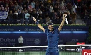 A Dubaï, Federer remporte le 100e titre de sa carrière.