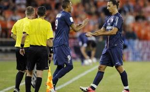 Guillaume Hoarau remplace Zlatan Ibrahimovic, le 28 juillet 2012