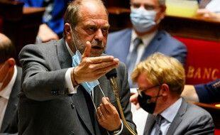 Paris, le 1er juin 2021. Eric Dupond-Moretti s'exprime dans l'hémicycle de l'Assemblée nationale.