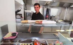 Matthieu Carré, chef cuisiner d'Our installé face à la gare nord à Nantes.