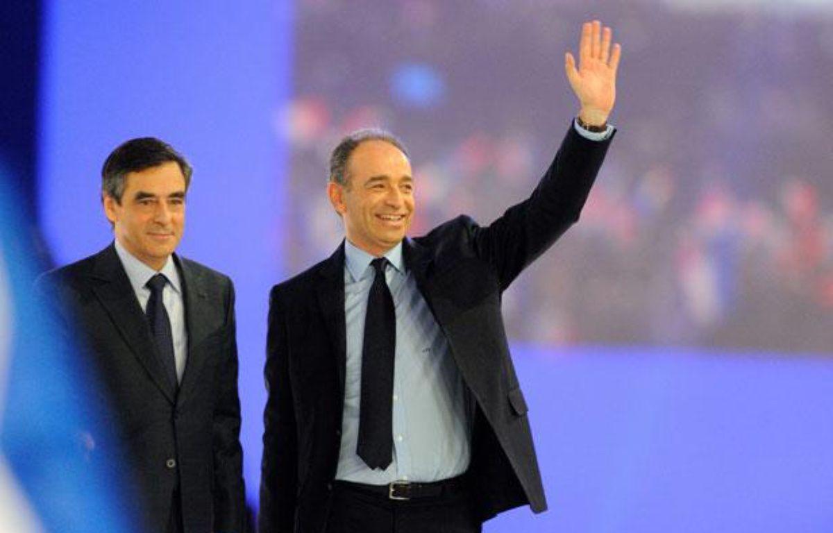 François Fillon et Jean-François Copé le 11 mars 2012 à Villepinte. – WITT/SIPA