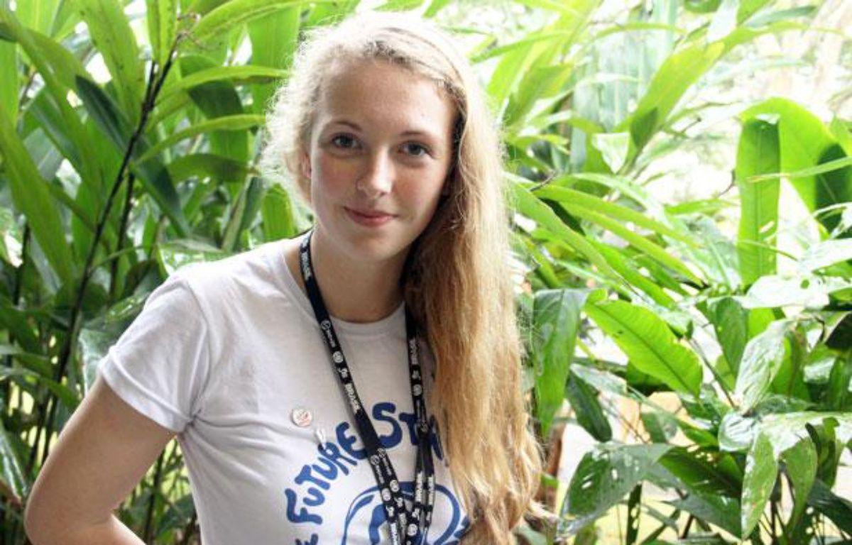 Brittany Trilford, la jeune néo-zélandaise qui a ouvert le sommet Rio+20 le 20 juin 2012. – A.Chauvet - 20 Minutes
