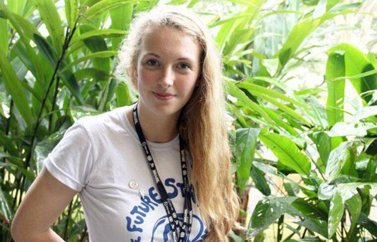 Brittany Trilford, la jeune néo-zélandaise qui a ouvert le sommet Rio+20 le 20 juin 2012.