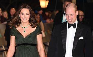 Kate Middleton et le prince William sur le tapis rouge des BAFTA 2018
